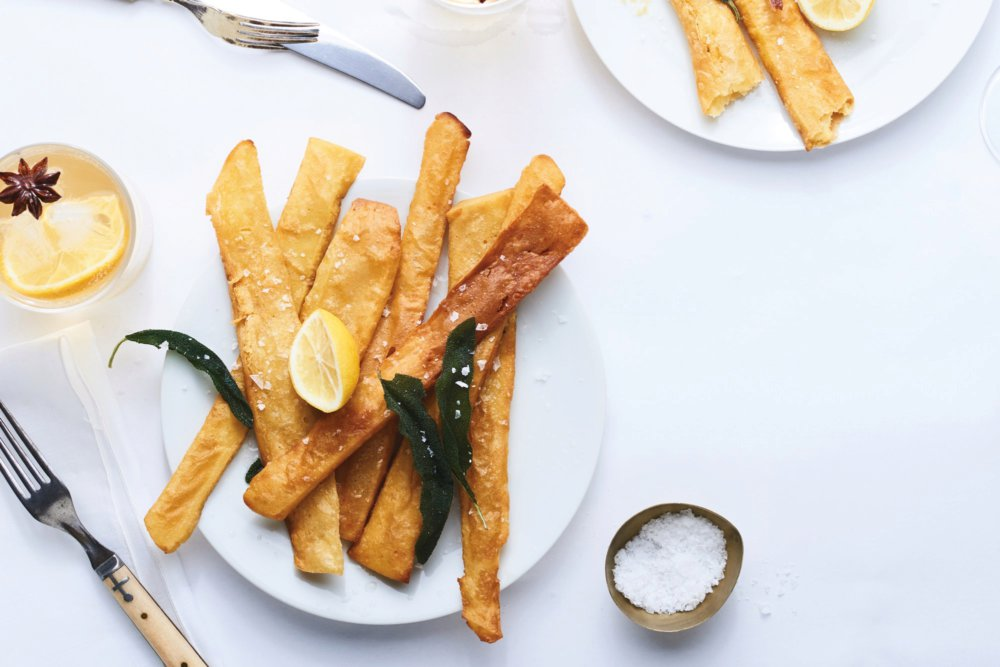 Panisses with Sage Leaves and Lemon
