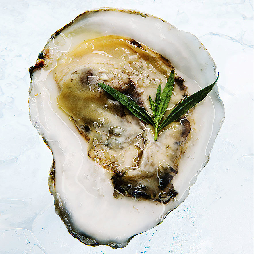 Oysters with Champagne-Tarragon Mignonette
