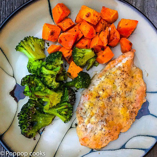 One Pan Parmesan Crusted Chicken Dinner