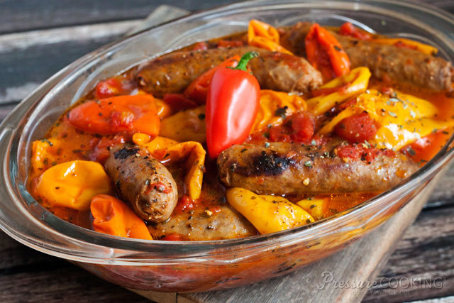 Teri's Pressure Cooker Sausage and Peppers