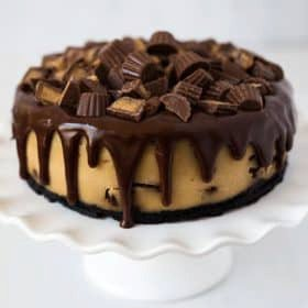 Pressure Cooker Peanut Butter Cup Cheesecake