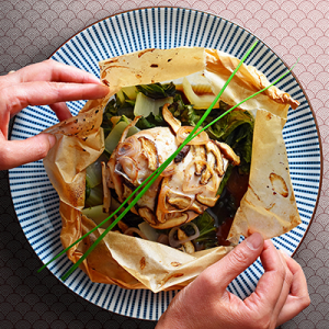Paper-Wrapped Chicken